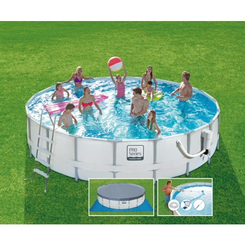 Proseries round frame pool 18 39 x48 summer escapes pools for A frame pools and spas