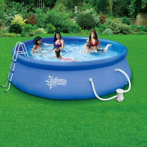 summer escapes 12 39 x 36 quick set pool with 600 gph pump. Black Bedroom Furniture Sets. Home Design Ideas