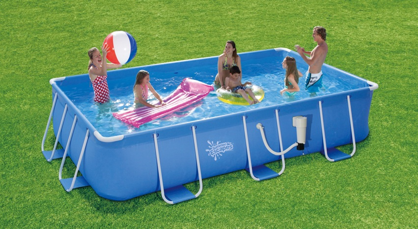 Summer escapes 8 ft x 14 ft x 36 in rectangular frame pool Square swimming pools for sale