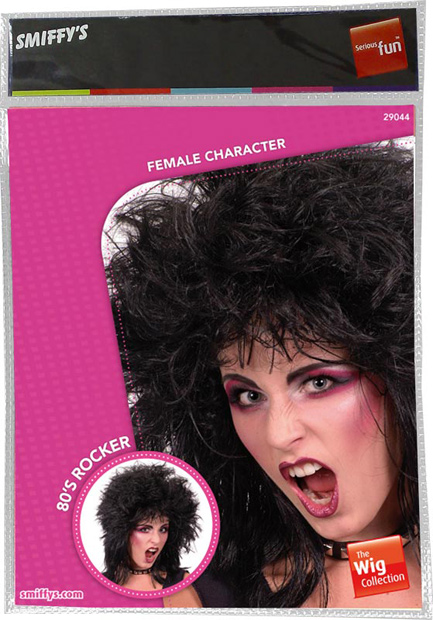 Adult Glam Heavy Metal Costume Wig