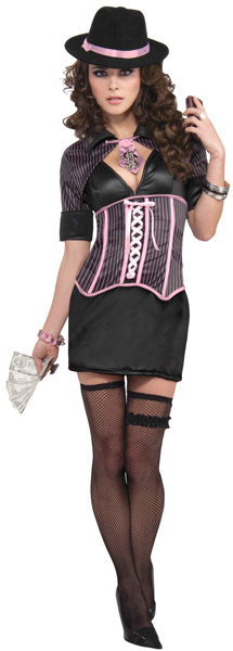 Sexy Corset Gangster Costume