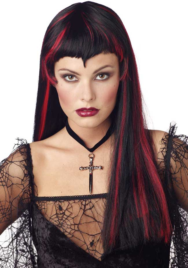 Long Ruby Vampiress Wig