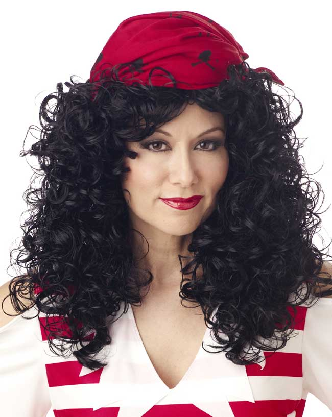 Women's Black Pirate Wig