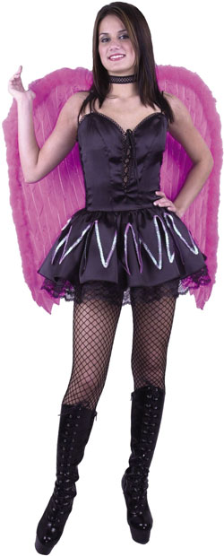Large Pink Feather Angel Costume Wings
