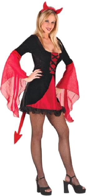 Sexy Wicked Devil Dress Costume