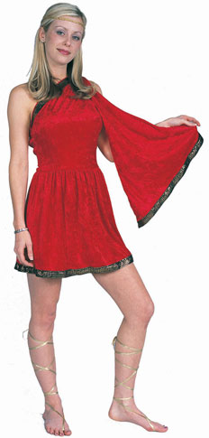 Adult Woman's Red Toga Costume