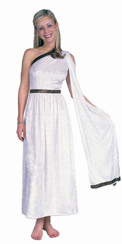 Adult White Long Toga Costume