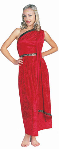 Adult Red Long Toga Costume