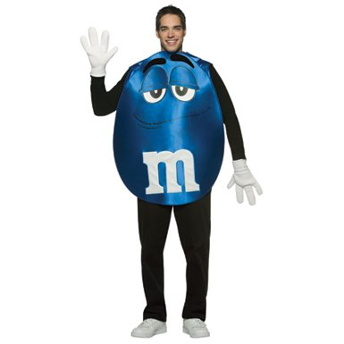 Adult Blue M&M Costume