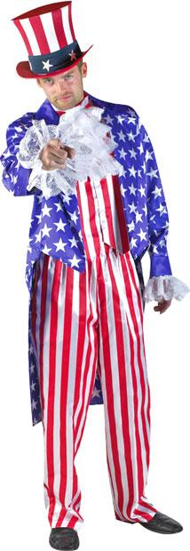 Deluxe Uncle Sam Theater Plus Size Costume