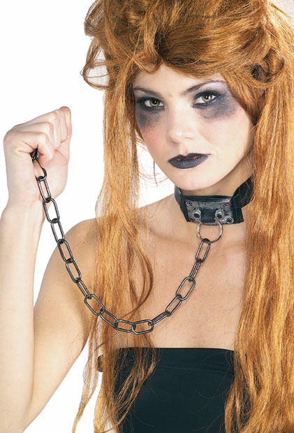Dominatrix Choker with Chain