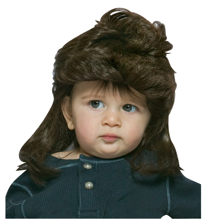 Baby Brown Mullet Wig 885c5abf8a77