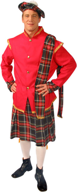 Adult Scottish Lad Costume