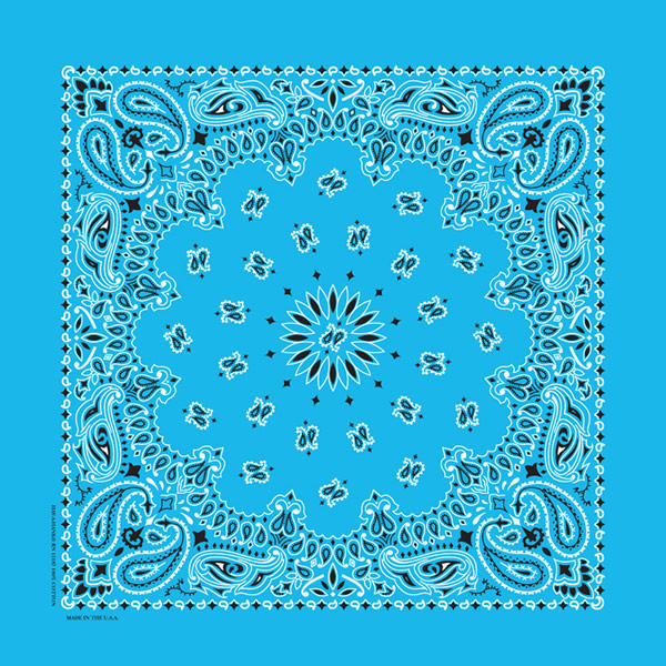 Light Blue Paisley Bandanas