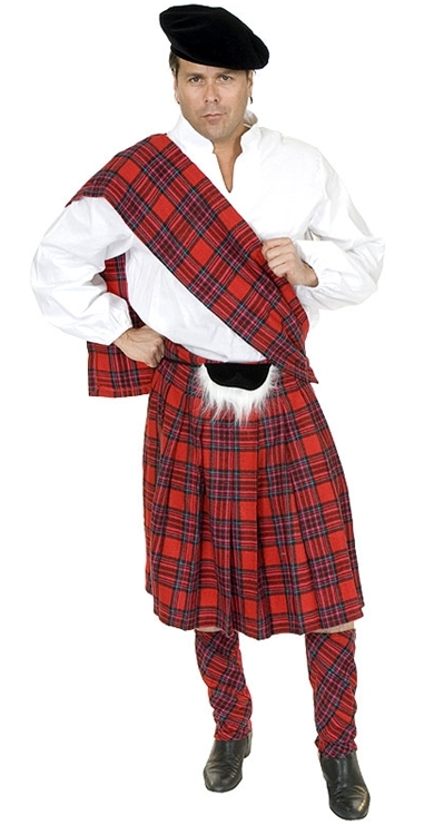 Adult Scottish Kilt Costume