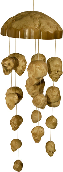 haunted skulls wind chimes