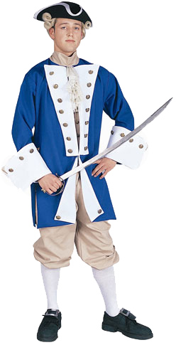 Adult Deluxe Blue Colonial Captain Costume