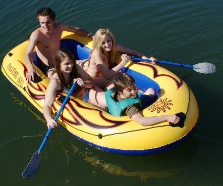 Large 4 Person Pool & Beach Boat