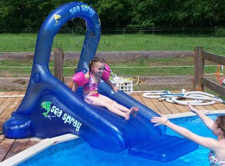 Sea Spray Inflatable Pool Slide