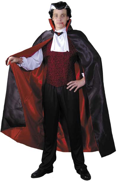Adult Reversible Satin Dracula Cape