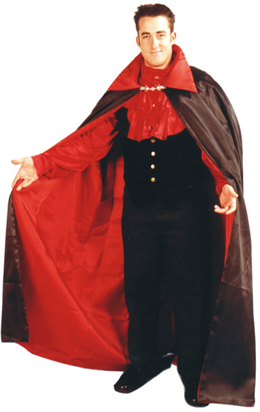 Reversible Satin Vampire Cape Costume