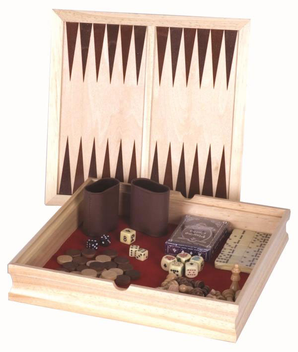 11 inch Wooden 6 in 1 Game Box