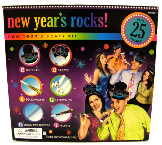 New Years Rocks! Party Kit for 25 People