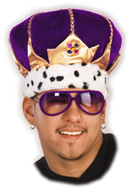 Adult Purple King Hat