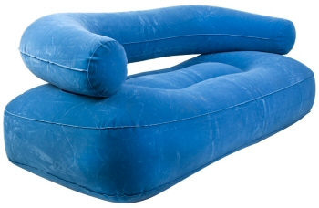 Inflatable Blue Flocked Couch