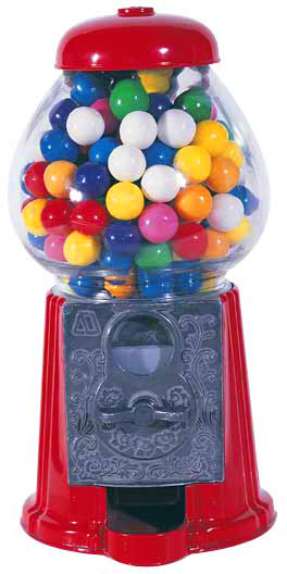 Metal Gumball Machine 9""