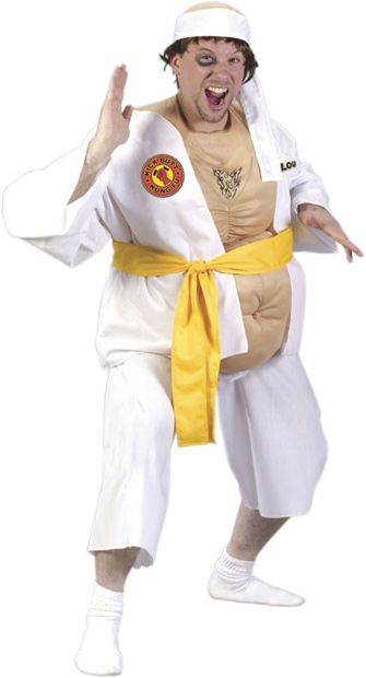 Adult Fat Karate Guy Costume