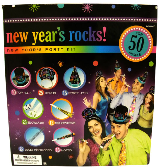 New Years Rocks! Party Kit for 50 People