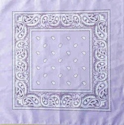Double Sided Lavender Paisley Bandanas