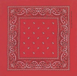 Double Sided Red Paisley Bandanas
