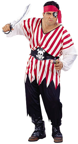 Plus Size Pirate King Costume