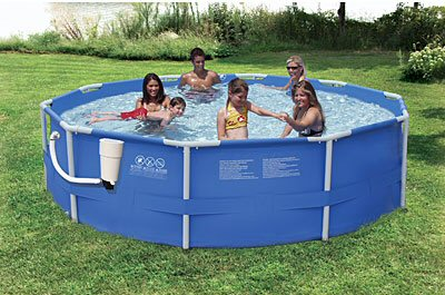 "Summer Escapes 12' x 30"" Above Ground Frame Pool Set"