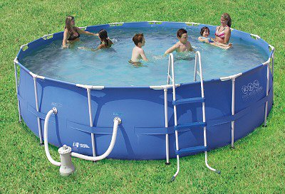 "Summer Escapes 15' x 48"" Above Ground Frame Pool Set"
