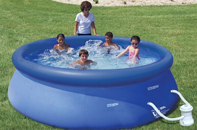 Summer Escapes 8 ft x 26 in Quick Set Pool with 350 GPH  Pump
