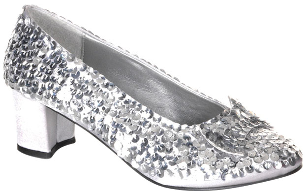 Adult Silver Sequin Shoes