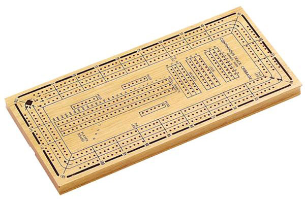 14� inch 3 Track Cribbage Board