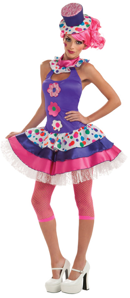 Women's Sexy Clown Girl Costume