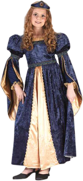 Child's Blue Maiden Princess Costume