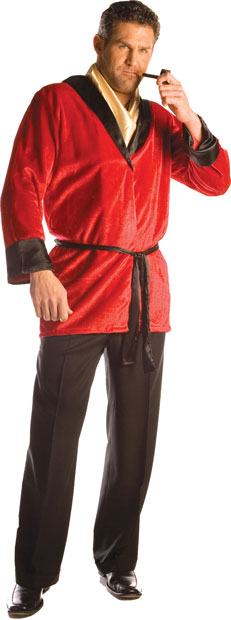 Deluxe Red Smoking Jacket Costume