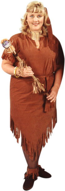 Plus Size Indian Woman's Costume