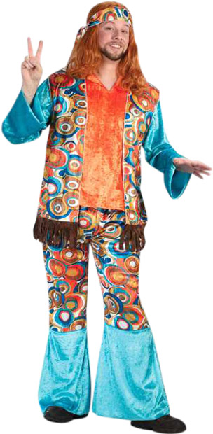 Adult Groovey Hippie Guy Costume