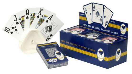 12 Decks of Large Numbered Plastic Playing Cards