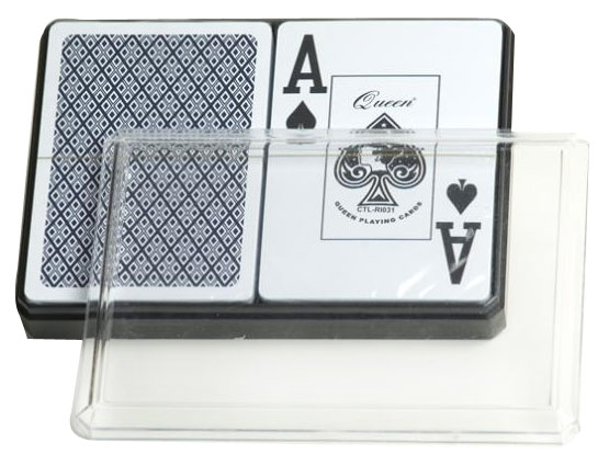 6 Double Decks of Large Numbered Plastic Playing Cards