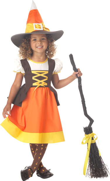 Toddler Candy Corn Witch Costume