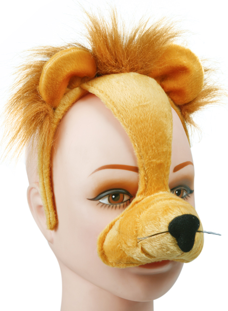 Adult Lion Headband with Ears and Nose