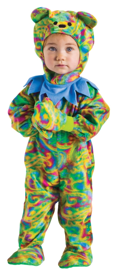 baby grateful tie dye bear costume